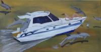 Mein Boot, meine Freundin und meine Freunde