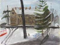 Blick aus dem Atelier im Winter